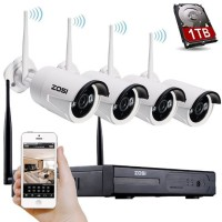 HD Wireless 4 CCTV Cameras Kit