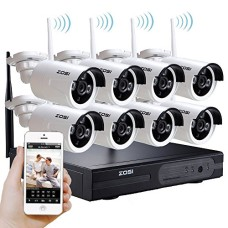 HD Wireless 8 CCTV Cameras Kit