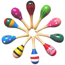 Maracas Wood Rattles for Baby