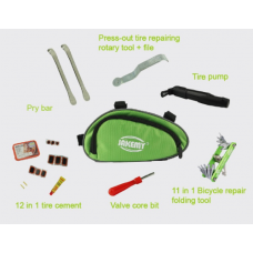 Complete Repair toolbox for a bicycle, mtb or race bike.