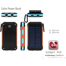 Solar Power Bank - 8000mAh